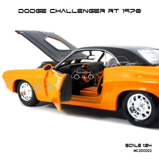 โมเดลรถ DODGE CHALLENGER RT 1970 (1:24) ภายในรถสวยงาม