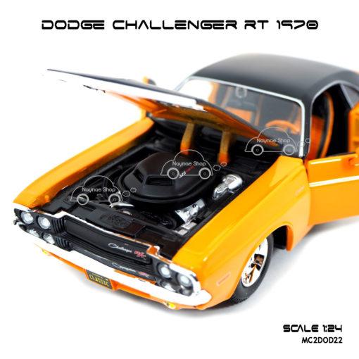 โมเดลรถ DODGE CHALLENGER RT 1970 (1:24) เครื่องยนต์เหมือนจริง