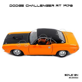 โมเดลรถ DODGE CHALLENGER RT 1970 (1:24) งานเหล็ก