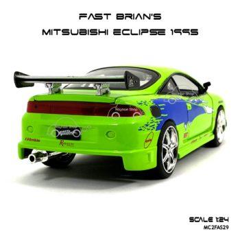 โมเดลรถ FAST BRIAN MITSUBISHI ECLIPSE 1995 (Scale 1:24)