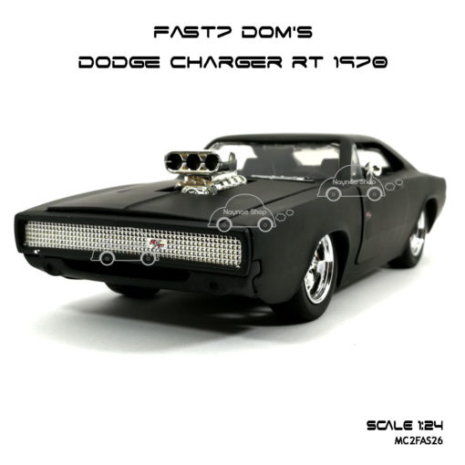 โมเดลรถ FAST7 DOM DODGE CHARGER RT 1970 (Scale 1:24)