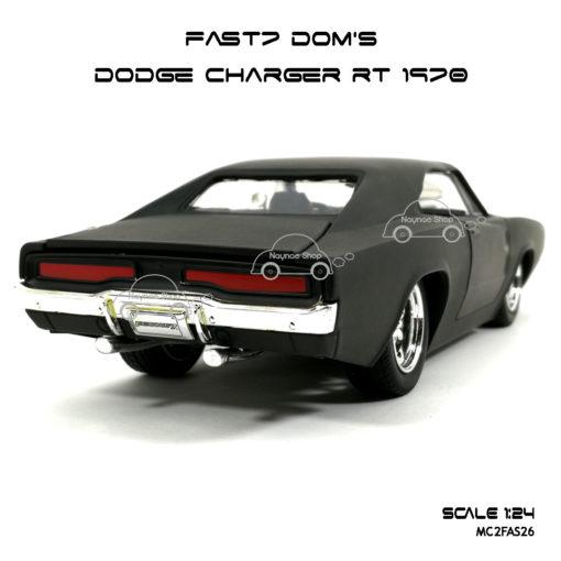 โมเดลรถ FAST7 DOM DODGE CHARGER RT 1970 (Scale 1:24) เหมือนจริง