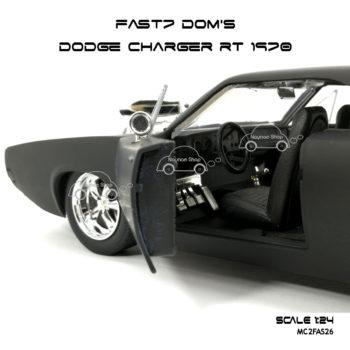โมเดลรถ FAST7 DOM DODGE CHARGER RT 1970 (Scale 1:24) ภายในเหมือนจริง