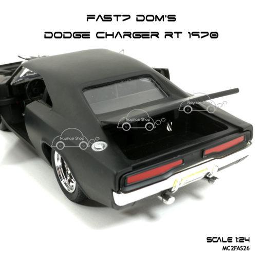 โมเดลรถ FAST7 DOM DODGE CHARGER RT 1970 (Scale 1:24) เปิดฝากระโปรงท้ายได้