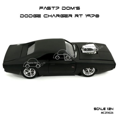 โมเดลรถ FAST7 DOM DODGE CHARGER RT 1970 (Scale 1:24) Jada Toy
