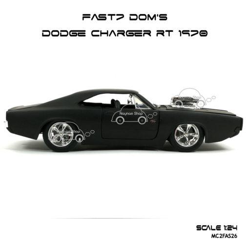โมเดลรถ FAST7 DOM DODGE CHARGER RT 1970 (Scale 1:24) รุ่นขายดี