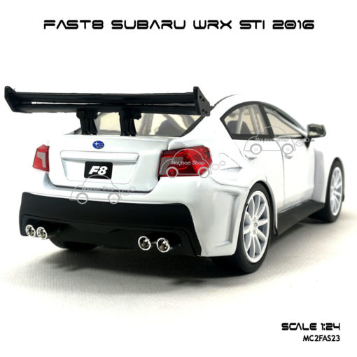 โมเดลรถ FAST8 SUBARU WRX STI 2016 (Scale 1:24)