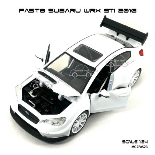 โมเดลรถ FAST8 SUBARU WRX STI 2016 (Scale 1:24) เปิดได้ครบ