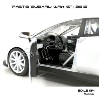 โมเดลรถ FAST8 SUBARU WRX STI 2016 (Scale 1:24) ภายในเหมือนจริง