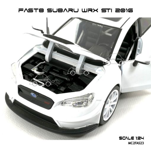 โมเดลรถ FAST8 SUBARU WRX STI 2016 (Scale 1:24) เปิดห้องเครื่องได้