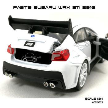 โมเดลรถ FAST8 SUBARU WRX STI 2016 (Scale 1:24) เปิดกระโปรงท้ายได้