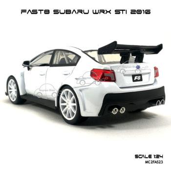 โมเดลรถ FAST8 SUBARU WRX STI 2016 (Scale 1:24) โมเดลลิขสิทธิแท้