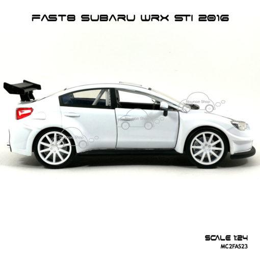 โมเดลรถ FAST8 SUBARU WRX STI 2016 (Scale 1:24) โมเดลของแท้