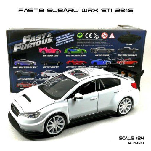 โมเดลรถ FAST8 SUBARU WRX STI 2016 (Scale 1:24) โมเดลของแท้ Jada Toy