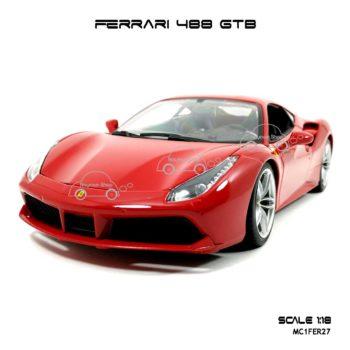 โมเดลรถ FERRARI 488 GTB สีแดง (1:18)