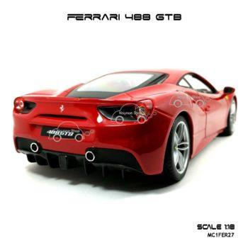 โมเดลรถ FERRARI 488 GTB สีแดง (1:18) สวยเหมือนจริง