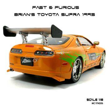 โมเดลรถ Fast Furious Brian TOYOTA SUPRA 1995 (1:18) ท้ายรถ