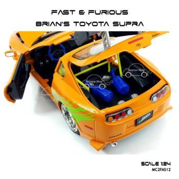 โมเดลรถ Fast Furious Brian TOYOTA SUPRA 1995 สีส้ม รายละเอียดเหมือนจริง