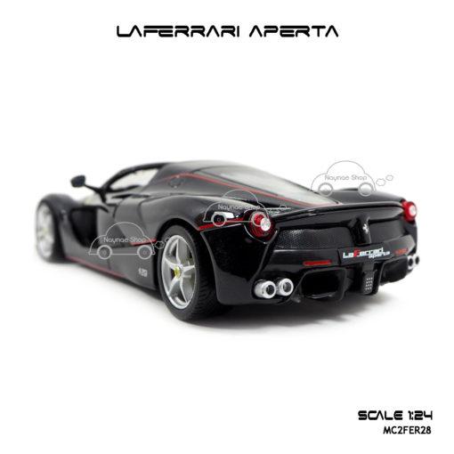 โมเดล Laferrari Aperta สีดำ จำลองเหมือนรถจริง
