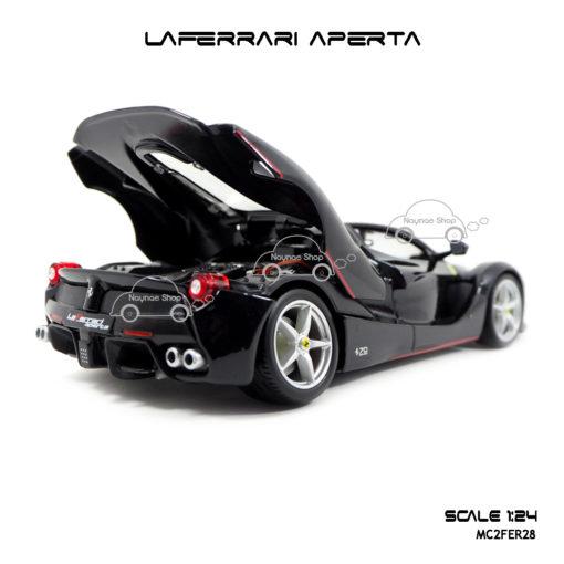 โมเดล Laferrari Aperta สีดำ เปิดท้ายรถได้