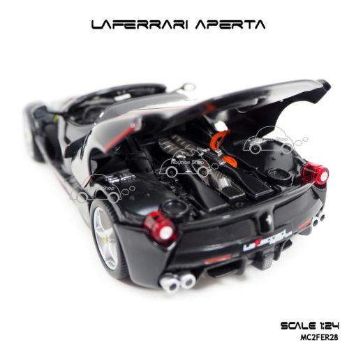 โมเดล Laferrari Aperta สีดำ ห้องเครื่องเหมือนรถจริง