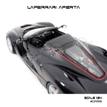 โมเดล Laferrari Aperta สีดำ ห้องเครื่อง สวยๆ
