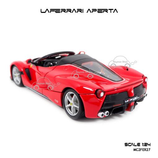 โมเดลรถ LAFERRARI APERTA สีแดงดำ ลิขสิทธิแท้