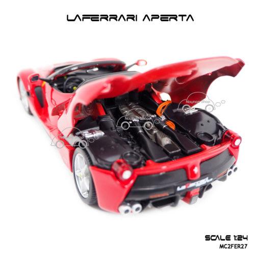 โมเดลรถ LAFERRARI APERTA สีแดงดำ ห้องเครื่องสวยๆ
