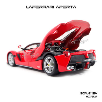 โมเดลรถ LAFERRARI APERTA สีแดงดำ ห้องเครื่องสวยๆ เหมือนจริง