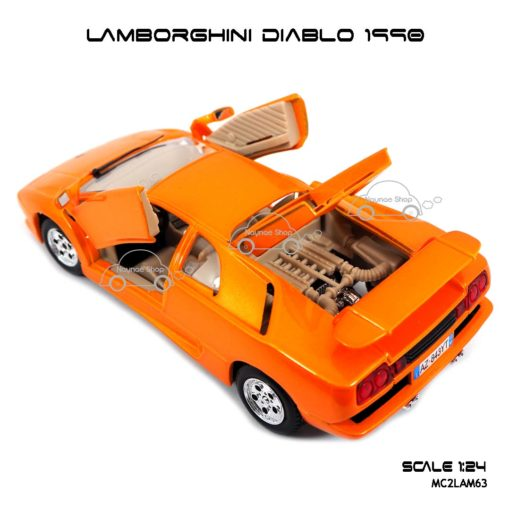 โมเดลรถ LAMBORGHINI DIABLO 1990 เปิดห้องเครื่องได้
