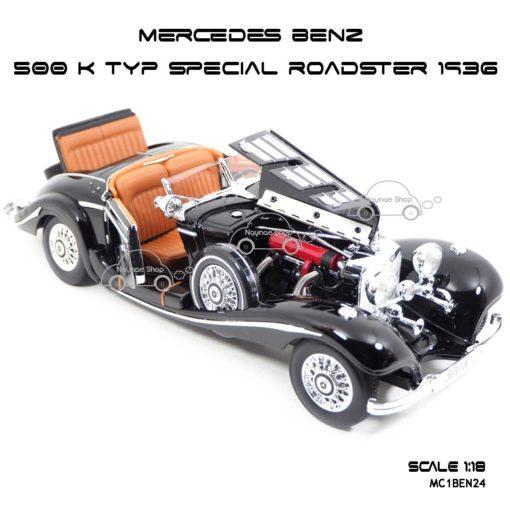 โมเดลรถ MERCEDES BENZ 500 K TYP SPECIAL ROADSTER 1936 (1:18) เปิดห้องเครื่องได้