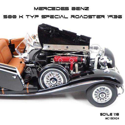 โมเดลรถ MERCEDES BENZ 500 K TYP SPECIAL ROADSTER 1936 (1:18) เครื่องยนต์เหมือนจริง