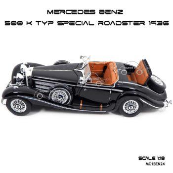 โมเดลรถ MERCEDES BENZ 500 K TYP SPECIAL ROADSTER 1936 (1:18) พร้อมฐานวางตั้งโชว์