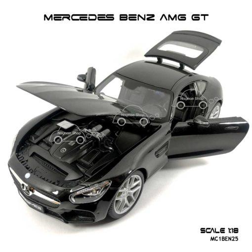 โมเดลรถ MERCEDES BENZ AMG GT สีดำ (Scale 1:18) เปิดได้ครบ