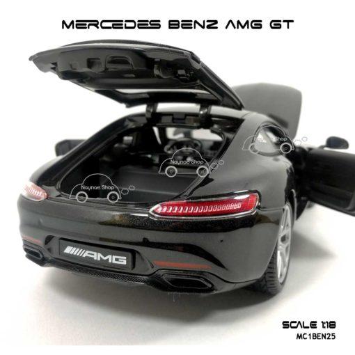 โมเดลรถ MERCEDES BENZ AMG GT สีดำ (Scale 1:18) เปิดท้ายรถได้