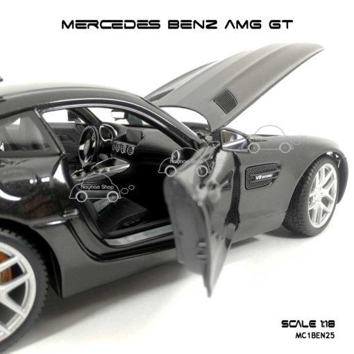 โมเดลรถ MERCEDES BENZ AMG GT สีดำ (Scale 1:18) ภายในเหมือนจริง