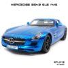 โมเดลรถ MERCEDES BENZ SLS AMG สีน้ำเงิน (1:18)