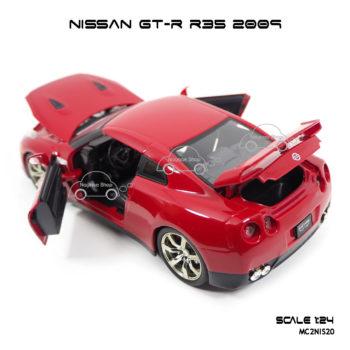 โมเดลรถ NISSAN GT-R R35 2009 สีแดง เปิดฝากระโปรงท้ายรถได้