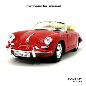 โมเดลรถ PORSCHE 356B สีแดง (Scale 1:24)