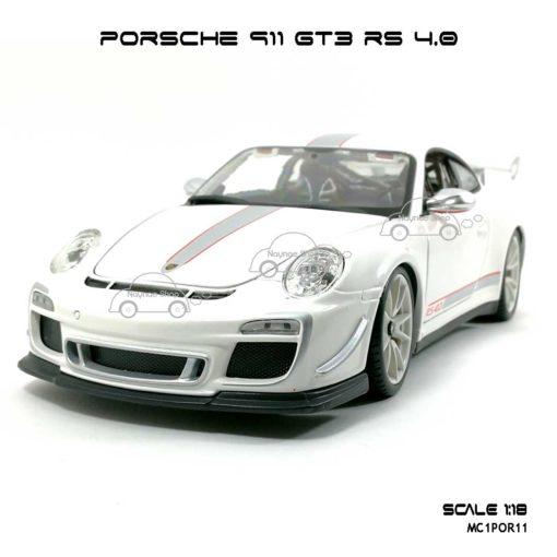 โมเดลรถ PORSCHE 911 GT3 RS สีขาว (1:18)