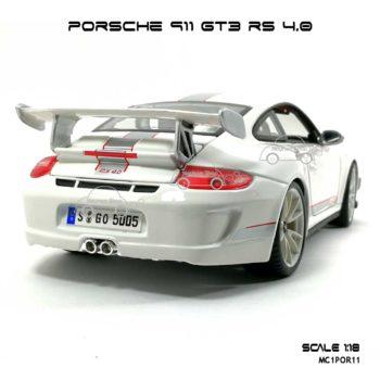 โมเดลรถ PORSCHE 911 GT3 RS สีขาว (1:18) สปอยเลอร์