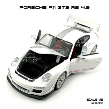 โมเดลรถ PORSCHE 911 GT3 RS สีขาว (1:18) เปิดได้ครบ
