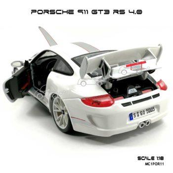 โมเดลรถ PORSCHE 911 GT3 RS สีขาว (1:18) เปิดท้ายรถได้
