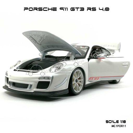 โมเดลรถ PORSCHE 911 GT3 RS สีขาว (1:18) เปิดฝากระโปรงหน้าได้