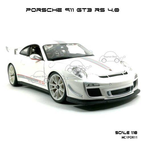 โมเดลรถ PORSCHE 911 GT3 RS สีขาว (1:18) สวยงาม