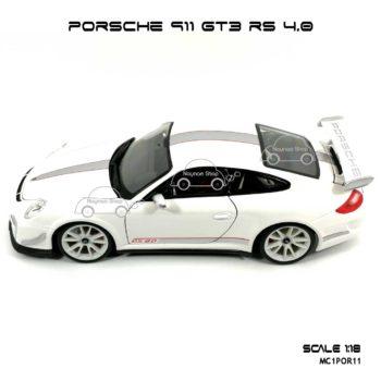 โมเดลรถ PORSCHE 911 GT3 RS สีขาว (1:18) พร้อมฐานตั้งโชว์