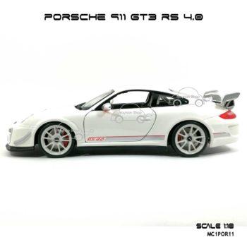 โมเดลรถ PORSCHE 911 GT3 RS สีขาว (1:18) Burago