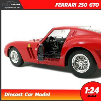 โมเดลเฟอร์รารี่ FERRARI 250 GTO (Scale 1:24) โมเดลรถเหล็ก ภายในรถจำลองสมจริง