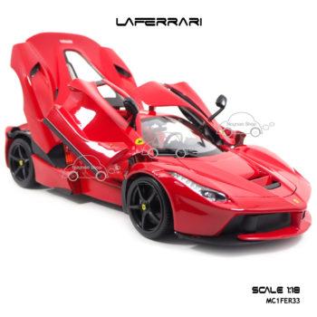 โมเดลเฟอร์รารี่ LAFERRARI สีแดง (Scale 1:18) ประตูปีกนก