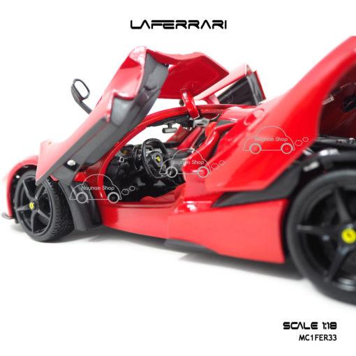 โมเดลเฟอร์รารี่ LAFERRARI สีแดง (Scale 1:18) ภายในรถเหมือนจริง